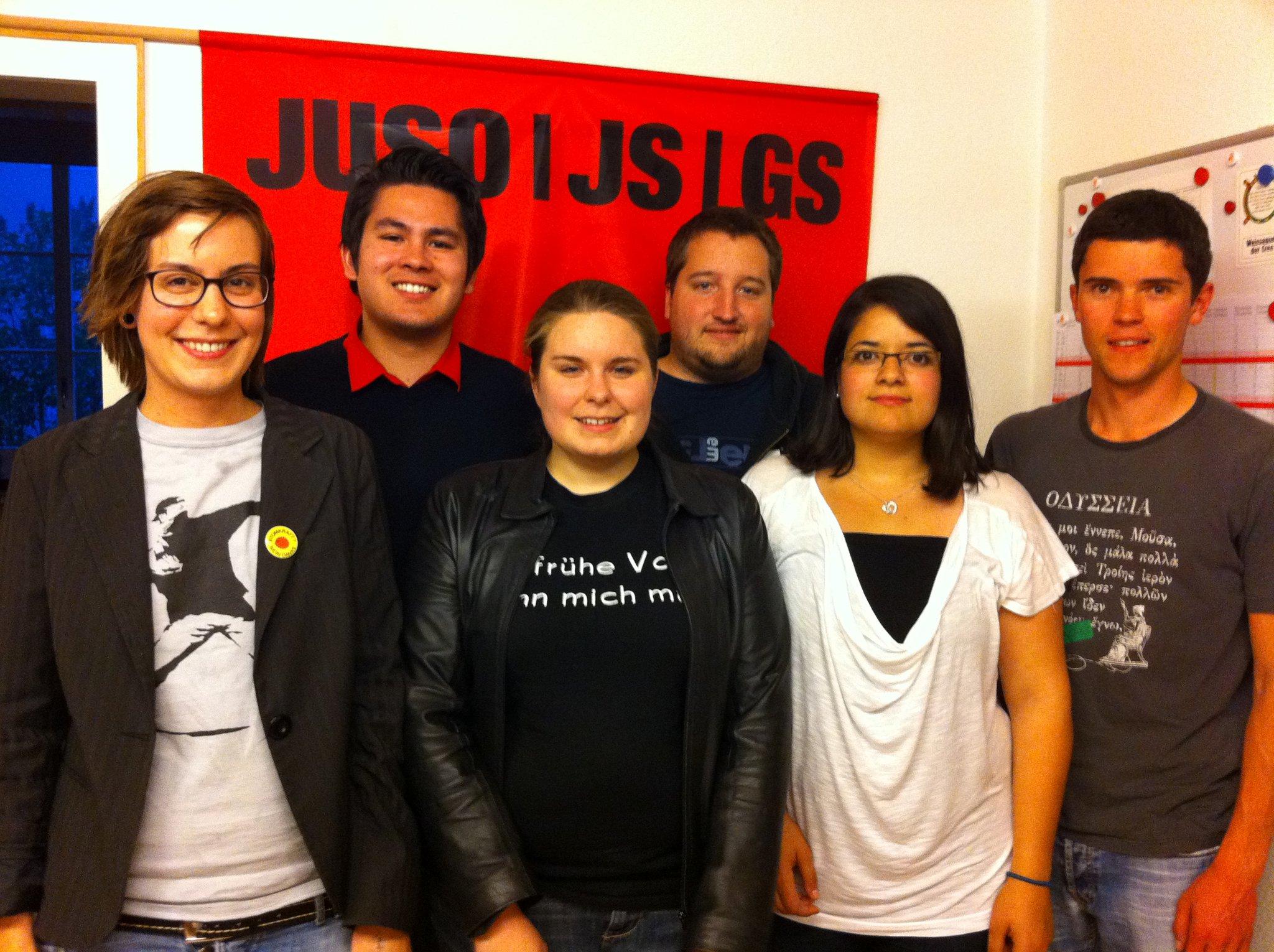 Von links nach rechts: Franziska Wagner, Adrian Mangold, Lisa Degen, Jan Fässler, Betül Karabulut, Florian Schreier
